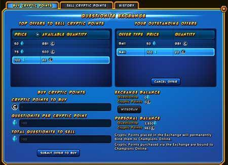 Cryptic answers Champions Online Questionite questions in latest dev blog