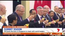 Scott Morrison heads to Singapore