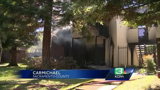 Apartment fire in Carmichael sends people running to get out