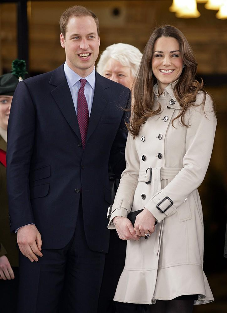 Kate wore a flared neutral trench coat while visiting Northern Ireland.