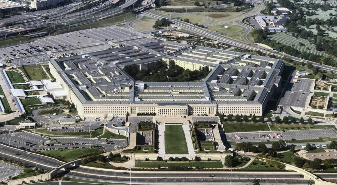 UNITED STATES - SEPTEMBER 24: Aerial view of the Pentagon building photographed on Sept. 24, 2017. (Photo By Bill Clark/CQ Roll Call)