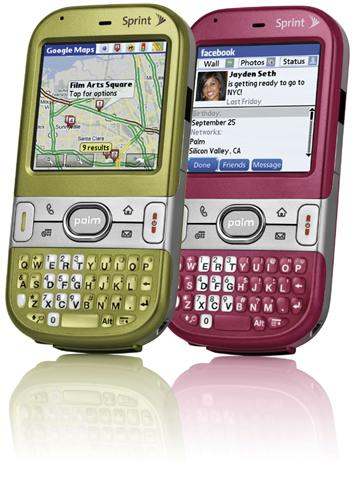Sprint unwraps Olive Green and Vibrant Rose Palm Centros