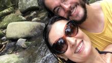 """Túlio Gadelha posta foto romântica com Fátima Bernardes e se declara: """"Gata ambientalista que amo"""""""