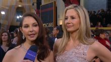 Oscar dates Ashley Judd and Mira Sorvino bring #MeToo message to the Academy Awards