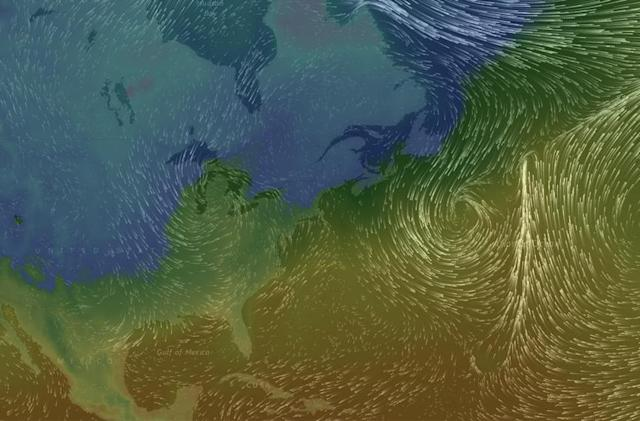 Moving wind forecast puts beautiful weather in your browser