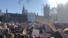 School Students Gather Outside UK Parliament to Demand Climate Action