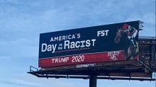 'America's Day as the Racist': Billboard vandalized with anti-Trump message amid racist tweet controversy