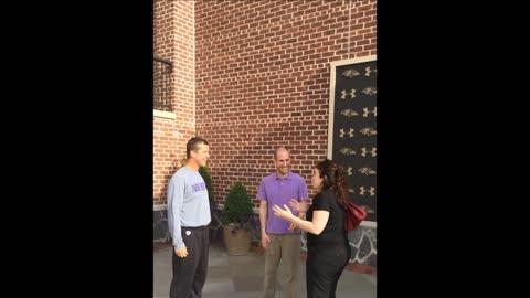 Ravens coach John Harbaugh crashes in on marriage proposal