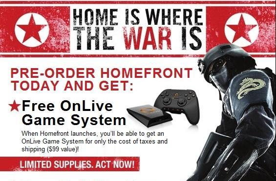 OnLive offering free MicroConsole with Homefront game purchase
