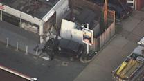 SUV slams into gas station in Frankford