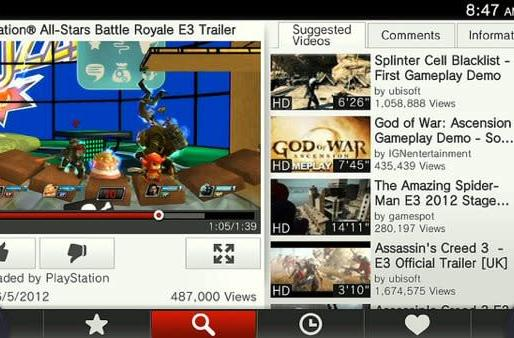 YouTube for PS Vita now ready, will help you watch more kitties than Killzone