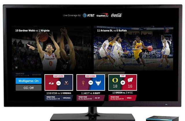March Madness app streams two games side-by-side on Android TV and Fire TV