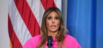 Melania Trump's £2400 hot pink dress distracts from her anti-bullying speech
