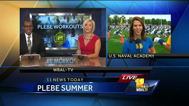Plebe summer workouts prep Naval Academy newbies