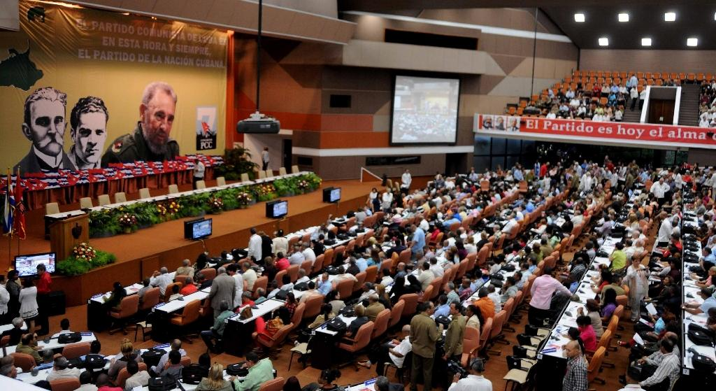 A general view of the opening of VII Congress of Cuban Communist Party (PCC) at Convention Palace in Havana, on April 16, 2016 (AFP Photo/Omara Garcia Mederos)
