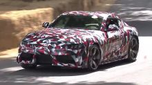 Watch the production 2019 Toyota Supra in motion