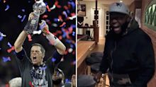 David Ortiz went nuts after the Patriots' wild Super Bowl comeback win