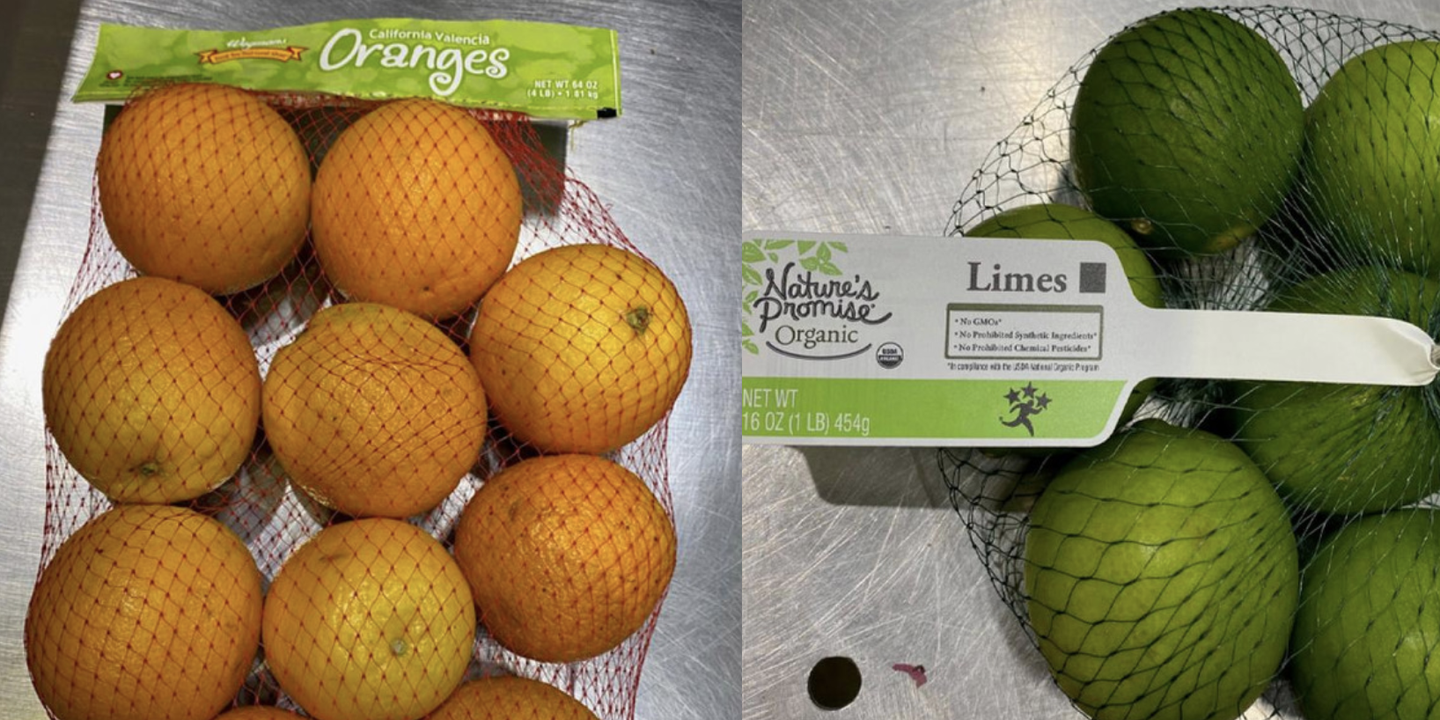 A Recall Has Been Issued on Oranges, Lemons, Limes, and Potatoes