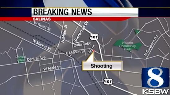 Shootout between Salinas police and suspect on East Market Street