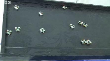 Swarm robots invade UK conference, lets hope they're all accounted for