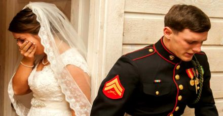 Soldier's Wedding Confession Leaves Bride In Tears