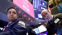 US STOCKS-Wall St falls as Apple, health shares drag, tariff deadline looms