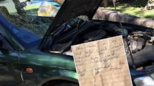 'My worst fear': Driver finds 'most Australian note ever' on car