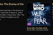 Two lost Doctor Who serials released as iTunes exclusives