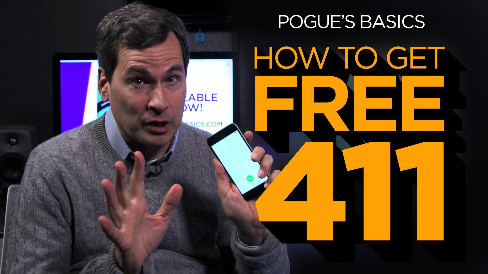 Free 411 (Directory Assistance) on Your Cellphone