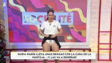 ¿Es necesario que Núria Marín caiga tan bajo enseñando las bragas para llamar la atención de la audiencia?