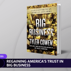 Tyler Cowen: people don't love big business enough