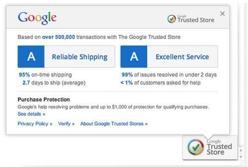 Google rolls out Trusted Stores verification program for online retailers
