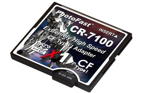 PhotoFast CR-7100 MicroSDHC adapter helps obsolete CF cards