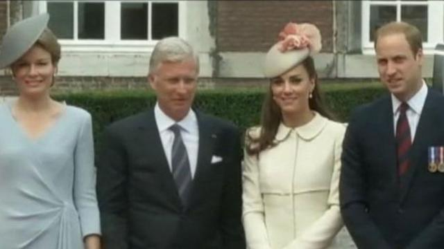 Will and Kate Attend WWI Commemorations