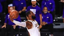 LeBron James wins his fourth NBA championship, leading the Lakers to their 17th in blowout fashion