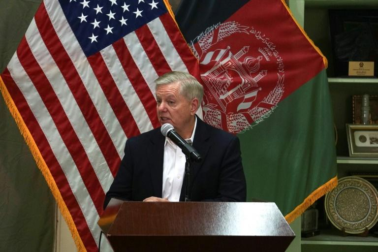 In Afghanistan, Sen. Graham says U.S. troop drawdown possible