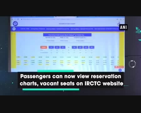 Irctc reservation chart online