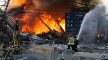 """Beyrouth: les explosions peut-être dues à des """"matières explosives confisquées"""""""