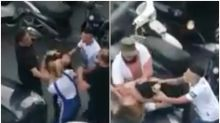 Napoli, rissa dopo l'incidente: uomo prende a calci una ragazza