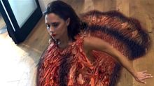 Victoria Beckham Gets Into the Holiday Spirit by 'Dressing Up' as a Turkey