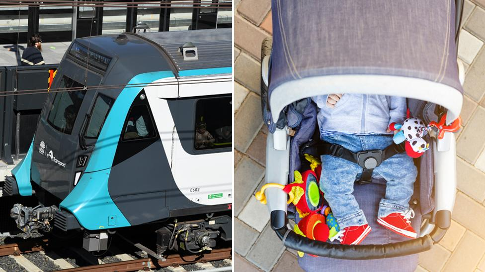 Sydney Metro train takes off with toddler in pram onboard on his own