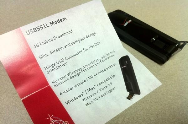 Novatel's USB551L LTE modem for Verizon in the wild, does Mac support out of the box