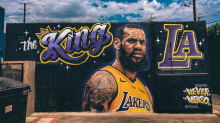 Why artist has been forced to remove LeBron mural