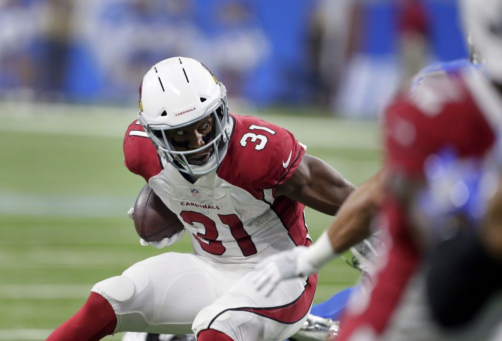 Arizona Cardinals running back David Johnson said he was optimistic about possibly returning this season. (AP)