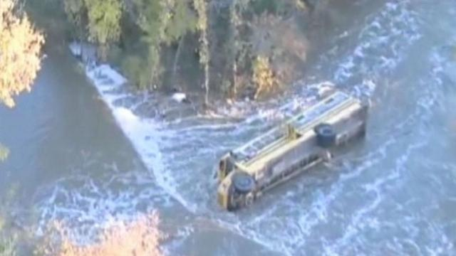 Bus Accident Rescue: Children Pulled From Creek