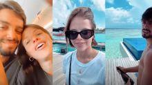 Agatha Moreira festeja aniversário em viagem às Maldivas com Rodrigo Simas