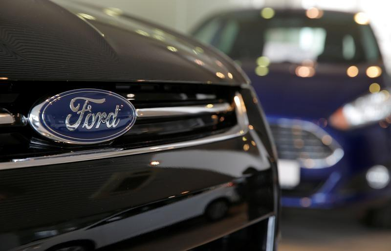 FILE PHOTO: Ford cars are seen on sale at a dealership in Moscow