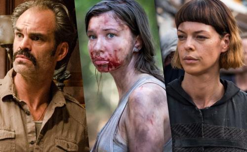 Steven Ogg as Simon, Katelyn Nacon as Enid and Pollyanna McIntosh as Jadis in AMC's The Walking Dead . (Photo Credit: AMC)