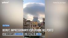 """Libano, forti esplosioni a Beirut: """"Decine di morti e migliaia di feriti"""""""