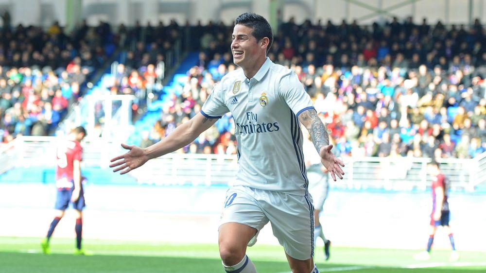 El partido de James Rodríguez ante Sporting de Gijón